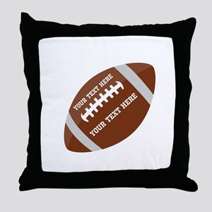 Football Customized Throw Pillow