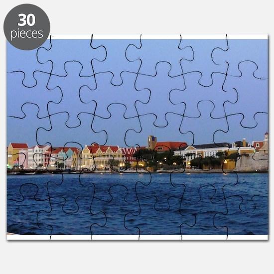 Curacao Skyline at Dusk Puzzle