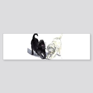 Stretching Labradoodles Sticker (Bumper)