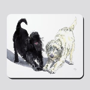 Stretching Labradoodles Mousepad
