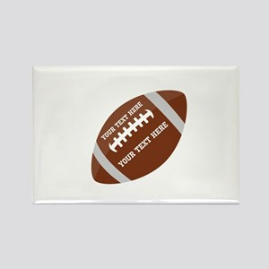 Football Customized Rectangle Magnet