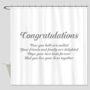 Wedding Congratulations Poem. Shower Curtain