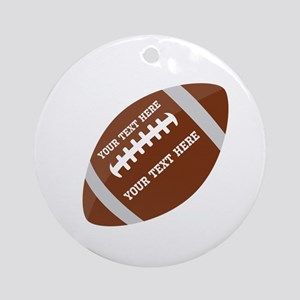 Football Customized Round Ornament