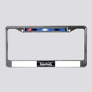 Custom Identity License Plate Frame