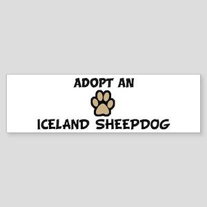 Adopt an ICELAND SHEEPDOG Bumper Sticker