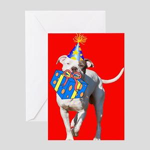Pit Bull Birthday Card