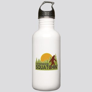 I'd Rather Be Squatchin Stainless Water Bottle 1.0
