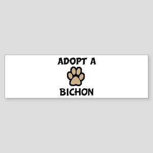 Adopt a BICHON Bumper Sticker