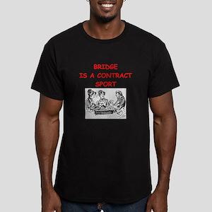 duplicate bridge Men's Fitted T-Shirt (dark)