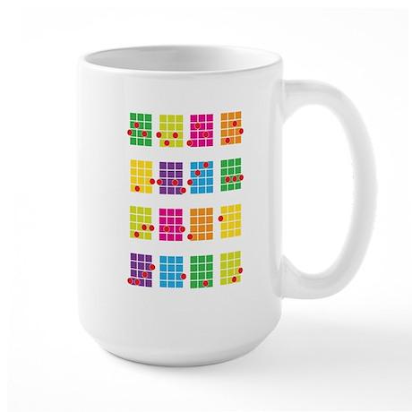 Uke Chords Colourful Large Mug