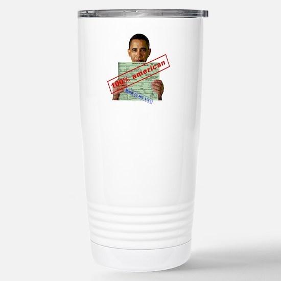 Obama 2012 D Stainless Steel Travel Mug