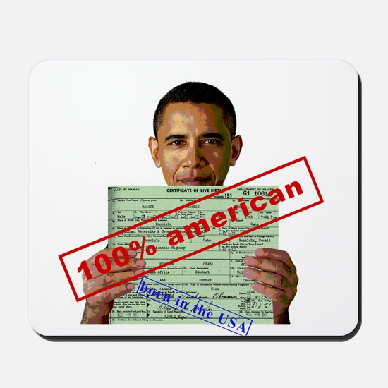 Obama 2012 D Mousepad