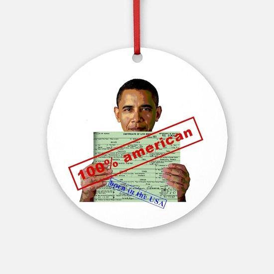 Obama 2012 D Ornament (Round)