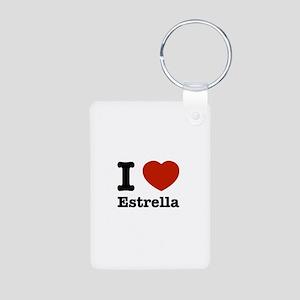 I love Estrella Aluminum Photo Keychain