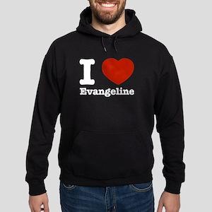 I love Evangeline Hoodie (dark)