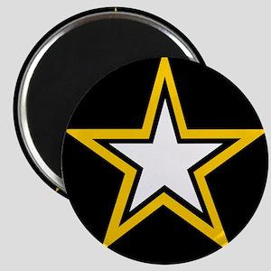 Army Star Circle Magnet