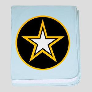 Army Star Circle baby blanket