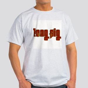 Long Pig Logo Ash Grey T-Shirt