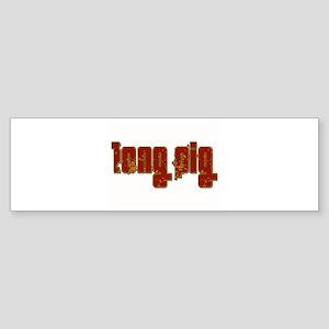 Long Pig Logo Bumper Sticker