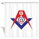 Web Savvy Masons Shower Curtain