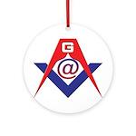 Web Savvy Masons Ornament (Round)