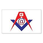 Web Savvy Masons Sticker (Rectangle 10 pk)