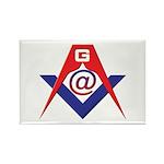 Web Savvy Masons Rectangle Magnet (100 pack)