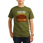 DoubleCHEESE! Organic Men's T-Shirt (dark)