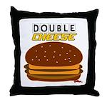 DoubleCHEESE! Throw Pillow