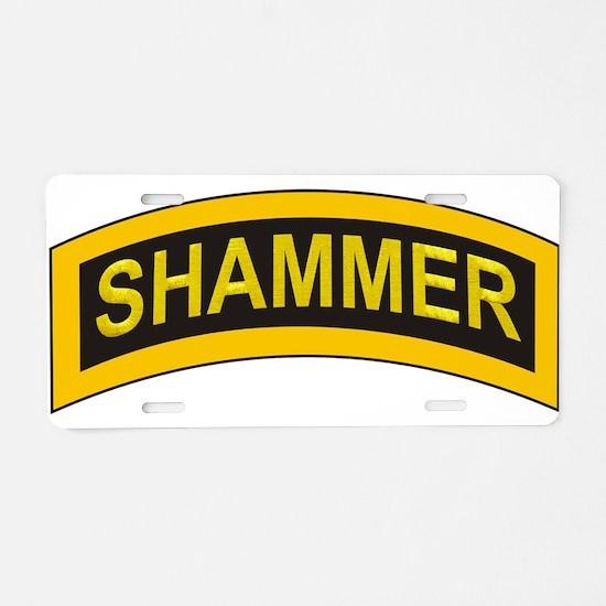 Shammer (Ranger) Aluminum License Plate