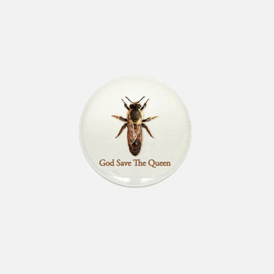God Save the Queen (bee) Mini Button