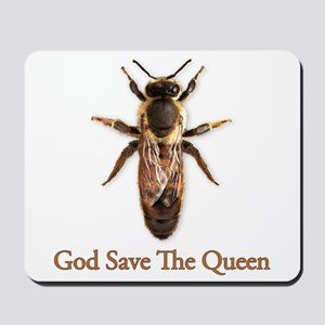 God Save the Queen (bee) Mousepad