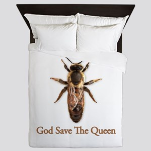 God Save the Queen (bee) Queen Duvet