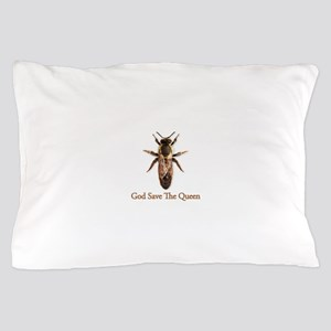 God Save the Queen (bee) Pillow Case