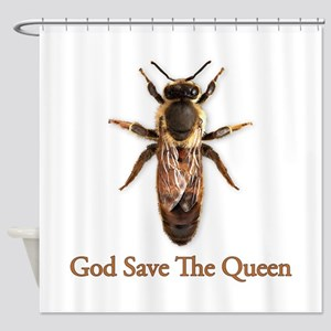 God Save the Queen (bee) Shower Curtain