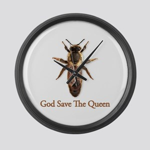 God Save the Queen (bee) Large Wall Clock