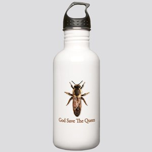 God Save the Queen (bee) Stainless Water Bottle 1.