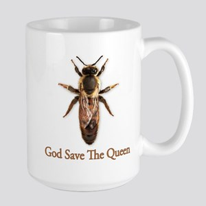 God Save the Queen (bee) Large Mug