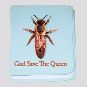 God Save the Queen (bee) baby blanket