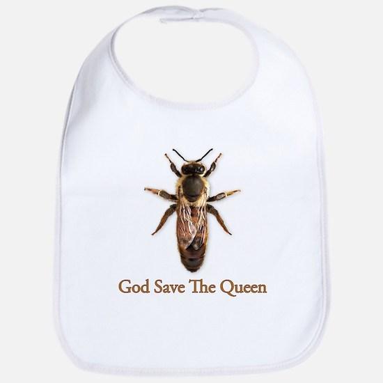 God Save the Queen (bee) Bib