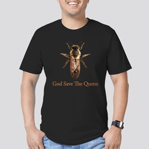 God Save the Queen (bee) Men's Fitted T-Shirt (dar