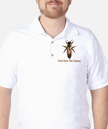 God Save the Queen (bee) Golf Shirt