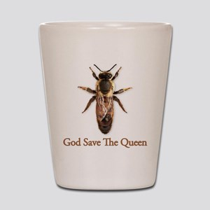 God Save the Queen (bee) Shot Glass