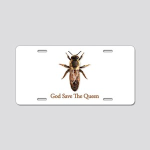 God Save the Queen (bee) Aluminum License Plate