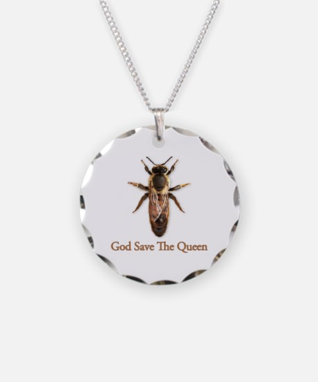 God Save the Queen (bee) Necklace