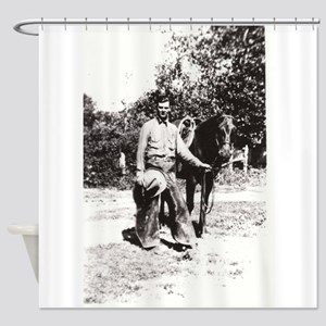 Vintage Cowboy #02 Shower Curtain