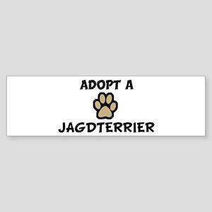Adopt a JAGDTERRIER Bumper Sticker