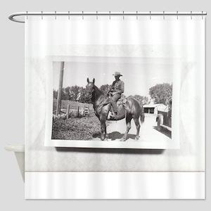 Vintage Cowboy #04 Shower Curtain