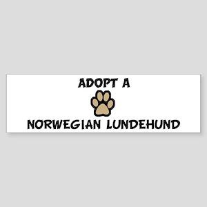 Adopt a NORWEGIAN LUNDEHUND Bumper Sticker