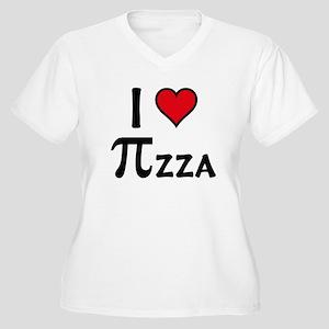 Pizza Women's Plus Size V-Neck T-Shirt